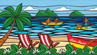 "Hawaiian Beach Towel Hawaii Sea Glass 40"" x 70"""