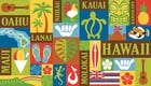 "Hawaiian Beach Towel Aloha Print 40"" x 70"""