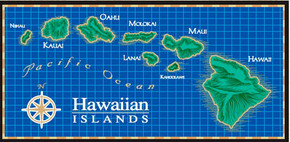 "Hawaiian Beach Towel Island Chain 30""x60"""