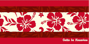 Hawaiian Fiber Reactive Beach Towel Hibiscus 30