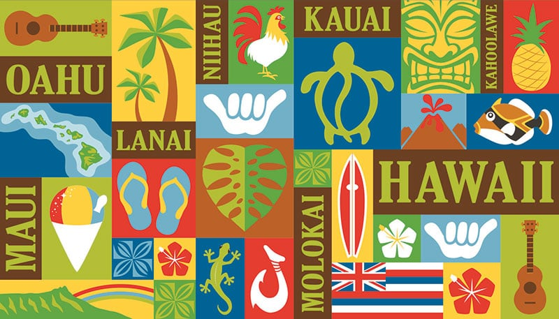 Hawaiian Beach Towels Aloha Print 40 X 70